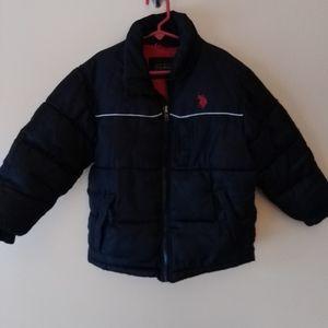 Boy's sz 5/6 U.S. Polo Assn winter coat - no hood